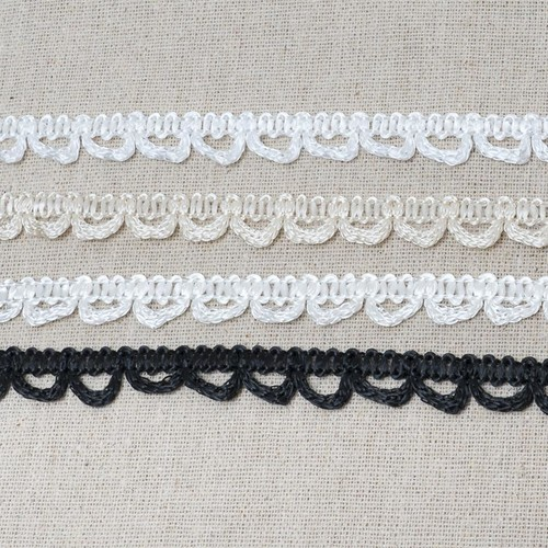 Bridal Button Looping 13mm x 25m (ML44) (29 White)