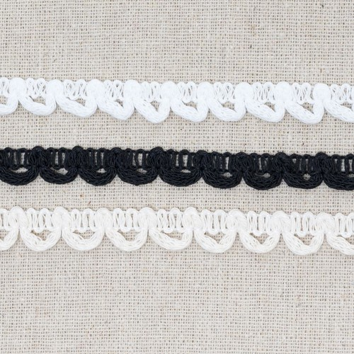 Bridal Button Looping 13mm x 25m (ML45) (White)