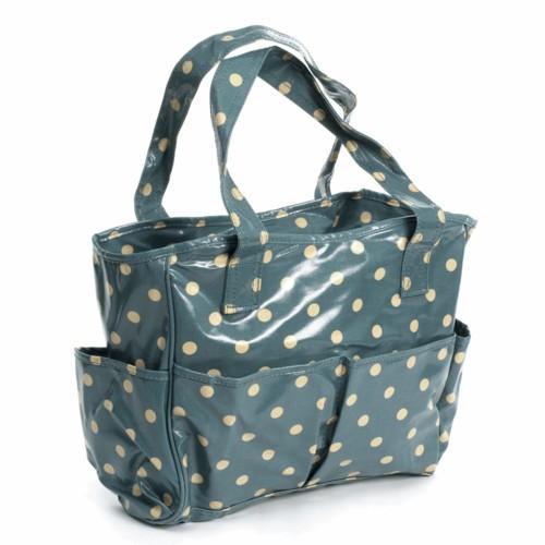 PVC Spotty Craft Bag Blue (MRB001)
