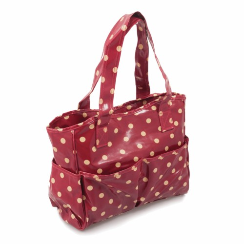 PVC Spotty Craft Bag Red (MRB002)