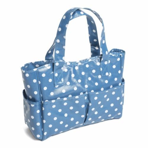 PVC Spotty Craft Bag Denim (MRB188)