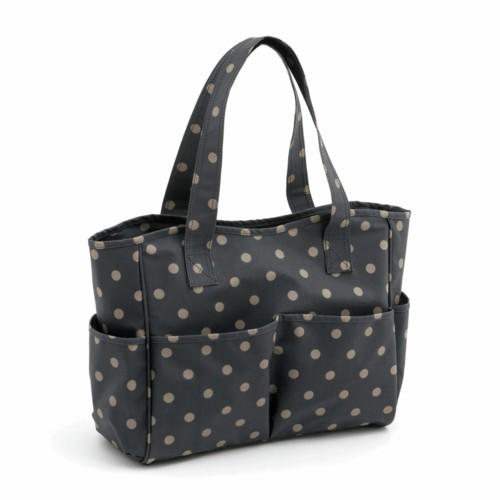 PVC Spotty Craft Bag Charcoal (MRB263)