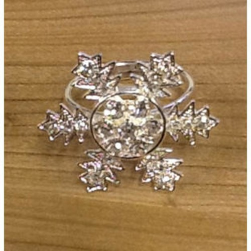 48mm Diamante Napkin Ring Snowflake (OTH2000002)