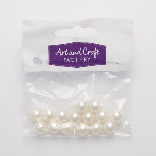 10mm Pearl Beads Round Cream 10 Pack (PB10C)