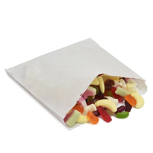 White Paper Bags 12 Inch x 12 Inch 500 Bags (PB1212W)