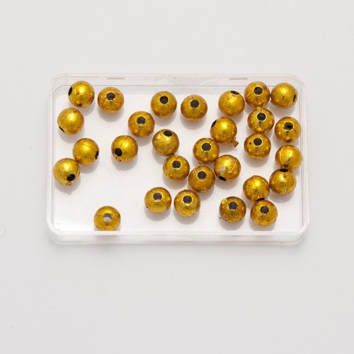 6mm Pearl Beads Round Gold 10 Pack (PB6G)