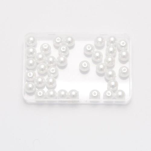 6mm Pearl Beads Round White 10 Pack (PB6W)