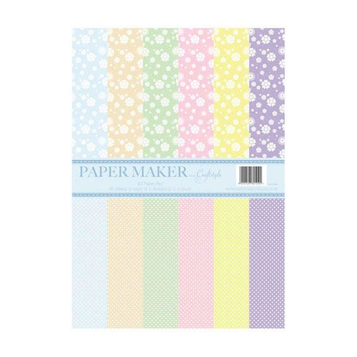 Papermaker Pad - Floral/Polka Dot (PMPP009)