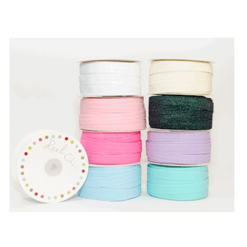 6mm x 25m 1Glitter Headbands Elastic (RC029-16)(Aqua)