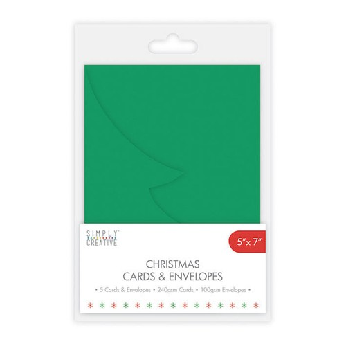 Simply Creative Tree Cards and Envelopes 5 Per Pack 5x7 Inch (SCCAE004)