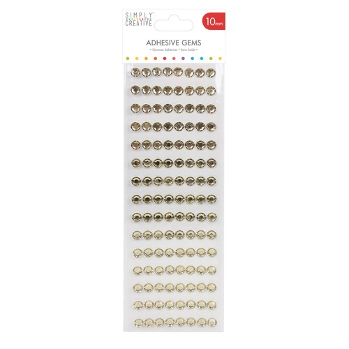 10mm Gold Diamante Stickers (SCDOT016)