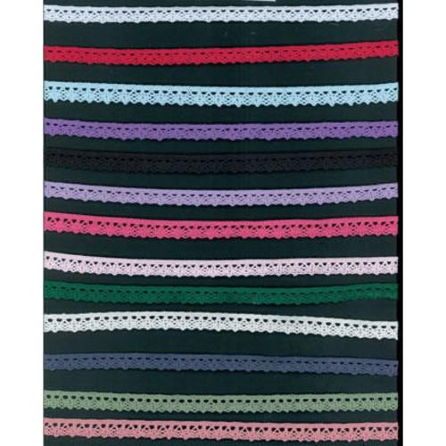 10mm x 25m Scalloped Edge Lace Trim (SEBTB7084)(26 Black)
