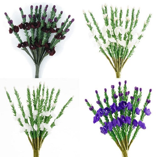 Flower Heather Bunch 6 Per Pack (SH411) (formerly BB1058L)(Ivory)