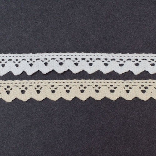 15mm x 20m Cotton Lace on a (SL05)(White)