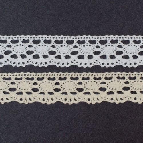 25mm x 20m Cotton Lace (SL169)(Natural)