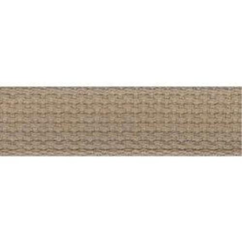 25mm Cotton Basket Weave Webbing Camel 9.1m (T65)