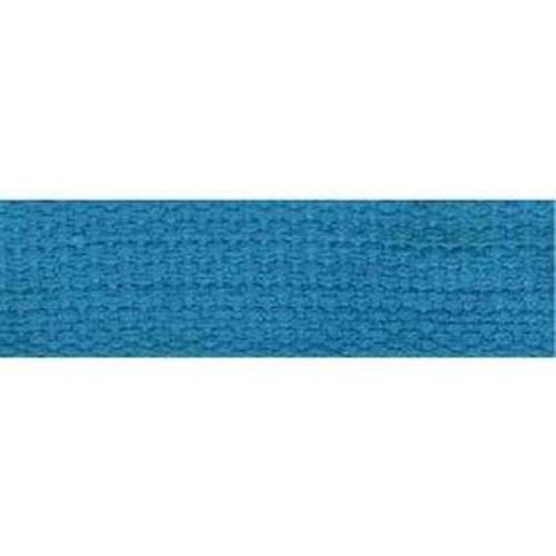 25mm Cotton Basket Weave Webbing Turquoise 9.1m (TM100)