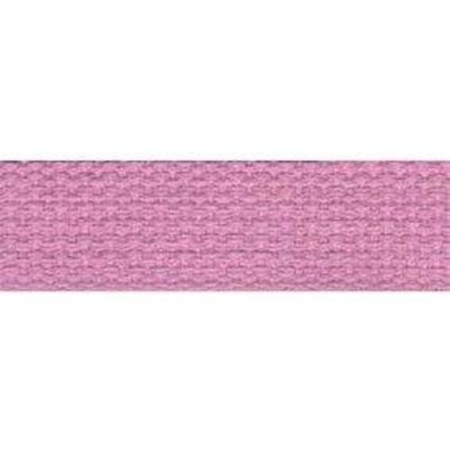 25mm Cotton Basket Weave Webbing Pink 9.1m (TM97)