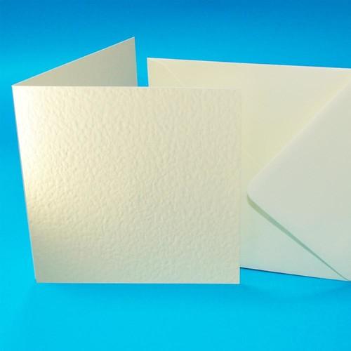 Cards & Envelopes 6 x 6 Ivory Hammer 50 Pack (W102)