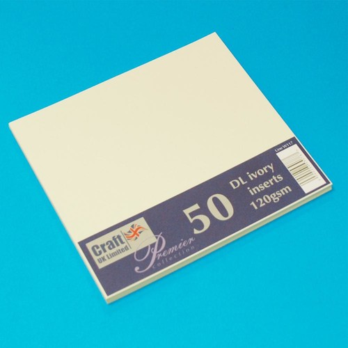 Premium Inserts DL Ivory 50 Pack (W117)