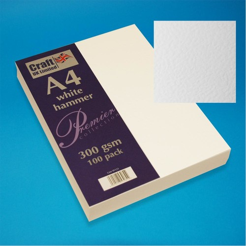 A4 Cards Hammer Finish White (W121)
