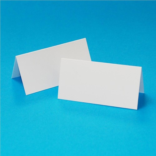 50 x Table Setting Cards White (W133)