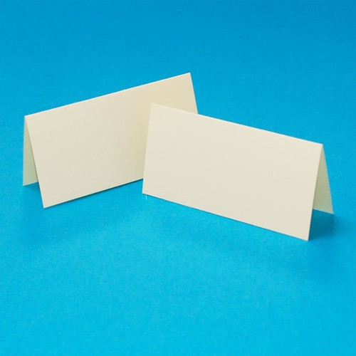 50 x Table Setting Cards Ivory (W134)