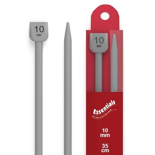 10mm Knitting Pins Knobbed Pair (WKP1000L) 78091