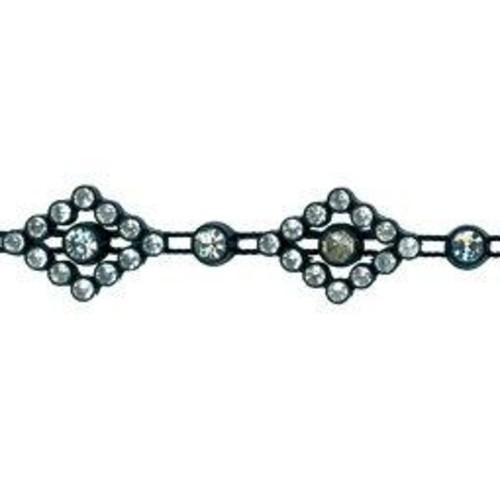 15mm Diamante Trim Black 10 Yard (XG1104)