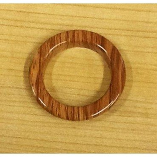 50 x 40mm Eyelet Rings Wood Look (ZMEYEWOD)